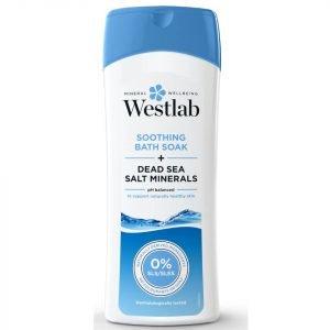 Westlab Soothing Bath Soak With Pure Dead Sea Salt Minerals 400 Ml