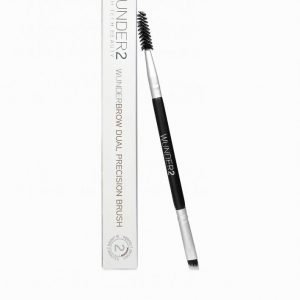 Wunderbrow Dual Precision Brush Kulmakarvasivellin Black