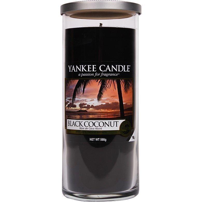Yankee Candle Black Coconut Glass Pillar 538g