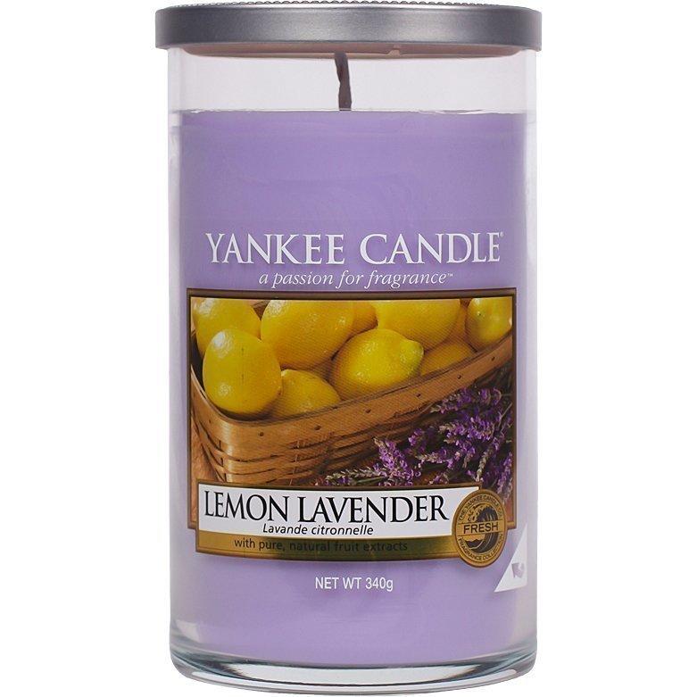 Yankee Candle Lemon Lavender Glass Pillar 340g