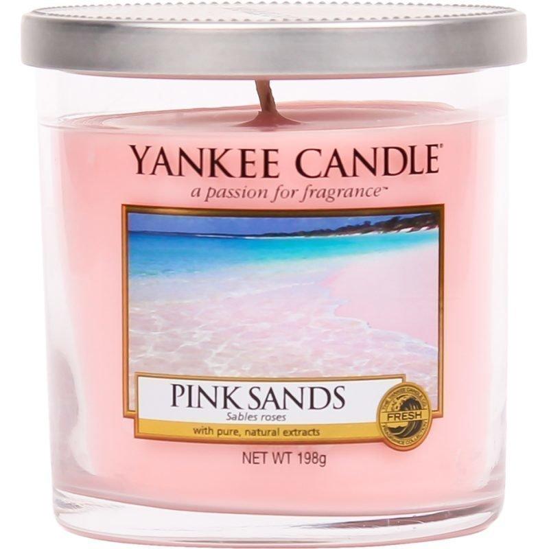 Yankee Candle Pink Sands Glass Pillar 198g
