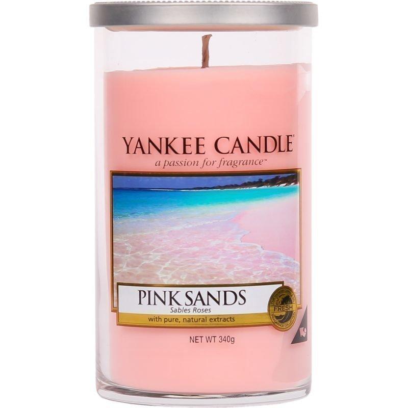 Yankee Candle Pink Sands Glass Pillar Glass Pillar 340g