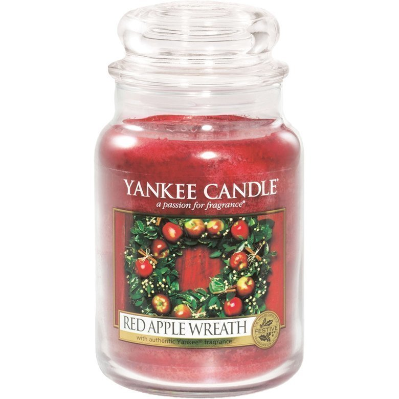 Yankee Candle Red Apple Wreath Large Jar 623g
