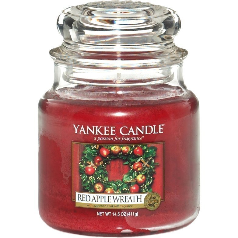 Yankee Candle Red Apple Wreath Medium Jar 411g