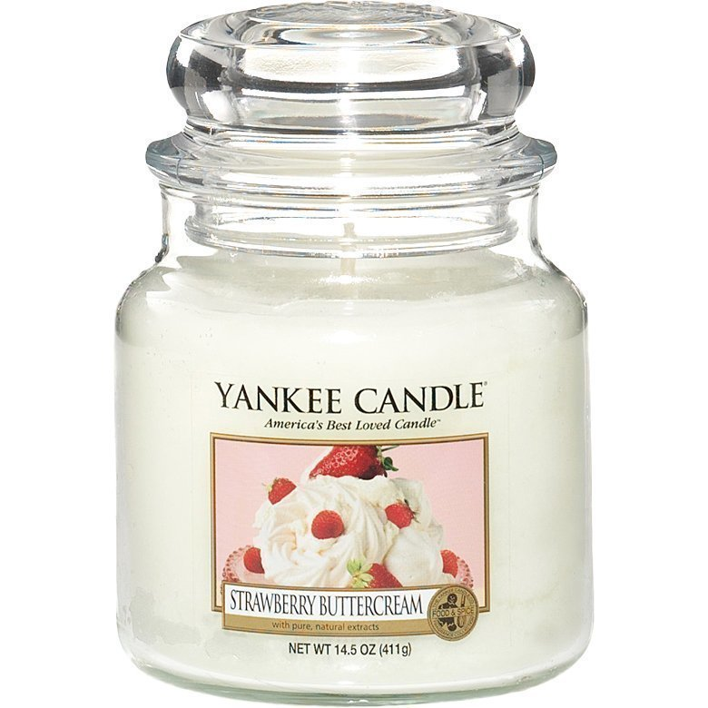 Yankee Candle Strawberry Buttercream Medium Jar 411g