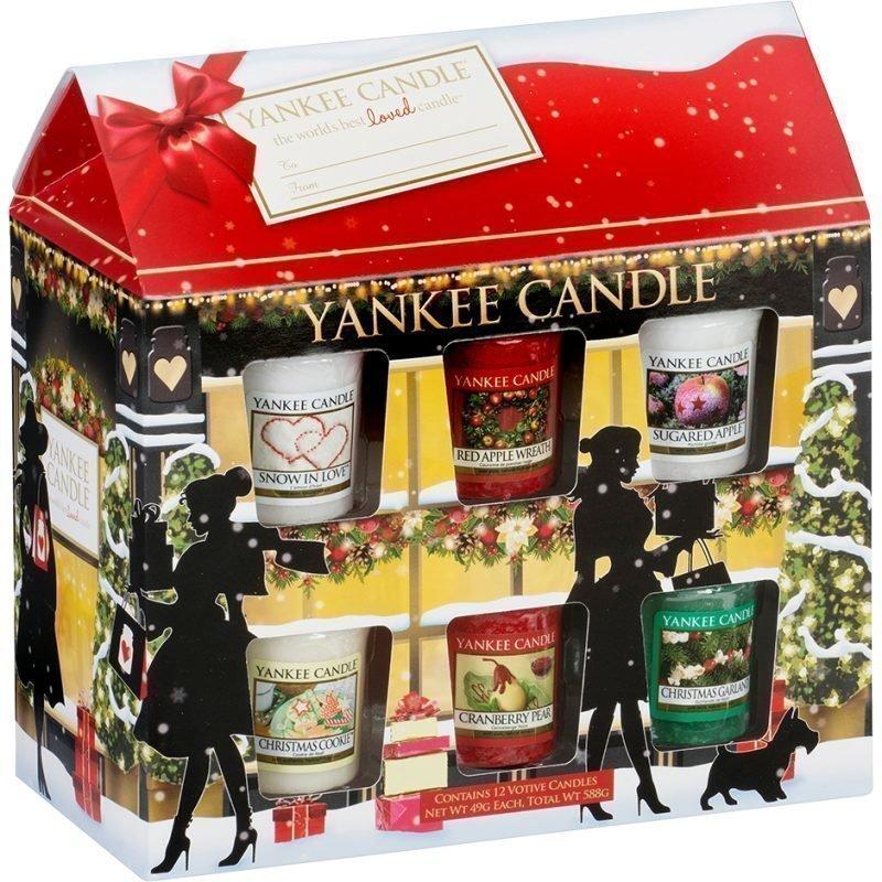 Yankee Candle Votive House Gift Set 12 Votive Candles