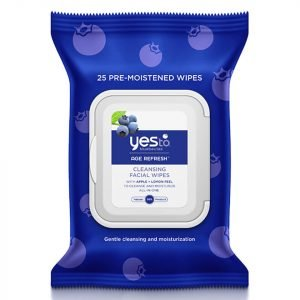 Yes To Blueberries Cleansing Facial Wipes Pack Of 25