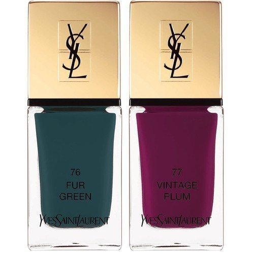 Yves Saint Laurent La Laque Couture Scandal Collection 76 Fur Green