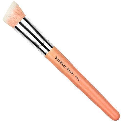 bdellium Tools Pink Bambu 954 Duet Fiber Slanted Kabuki Brush