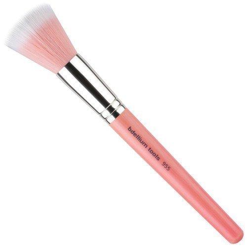 bdellium Tools Pink Bambu 955P Duet Fiber Finishing Brush