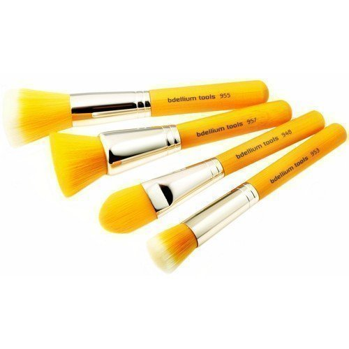 bdellium Tools Yellow Bambu Foundation 4pc. Brush Set