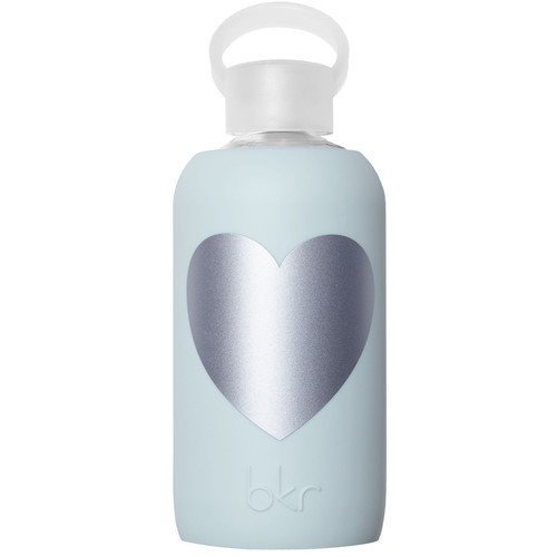 bkr Water Bottle Wren Silver Heart