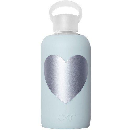 bkr Water Bottle Wren Silver Heart
