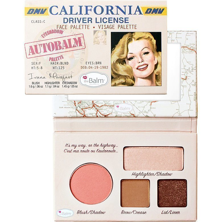 the Balm Autobalm California Driver License Blush/Shadow 1