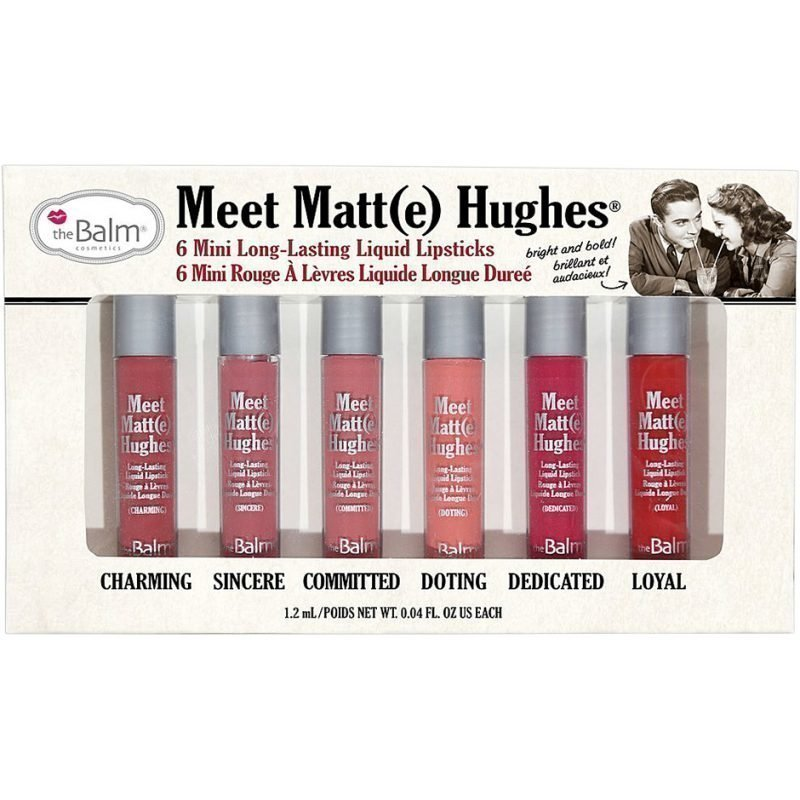 the Balm Meet Matte HughesLasting Liquid Lipsticks