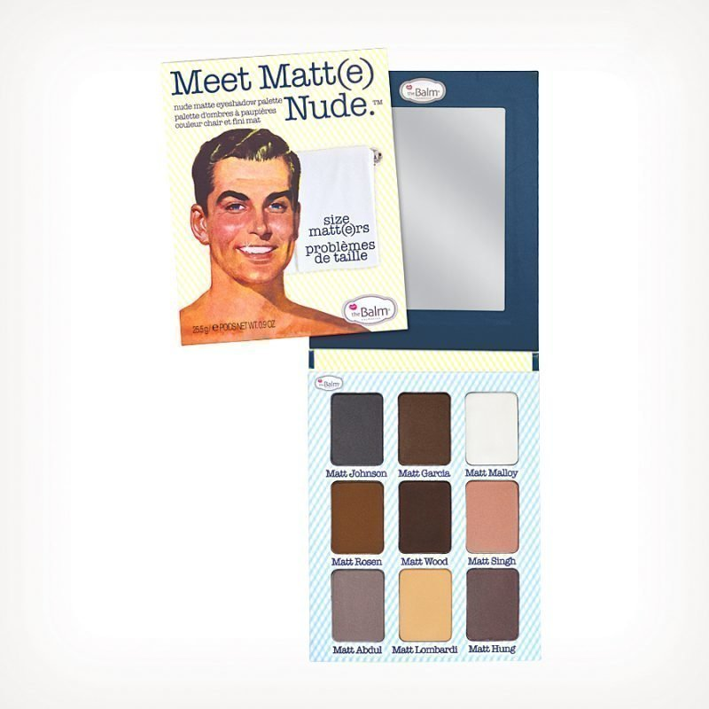 the Balm Meet Matt(e) Nude Eyeshadow Palette Nude Matte 25